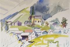 1300, Kirchberg, 1993, Aquarell, 50 x 40 cm