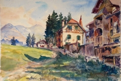 1374, Bei Kirchberg, Aquarell, 43 x 30,5 cm