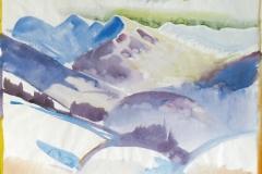 1474, bei Kirchberg, Aquarell, 45 x 35 cm
