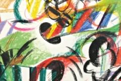 15069, Modern, Wachskreiden/Papier, 1970, 63x44 cm