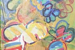0430, Weltraum, 1975, 30x40 cm, Acryl / Leinwand