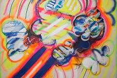 0880, Aufbruch in eine neue Zeit, 1970, 160x200 cm, Acryl / Leinwand