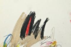 15422, summende Biene!!! (Wespe,Hummel), Wachskreiden/Papier, 1969, 62,5x44 cm