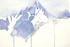 7453, Berg im Winter, Aquarell / Papier, 25x32,5 cm