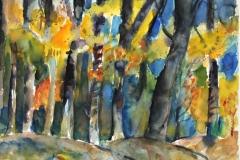 7513, Buchenwald, 1982, Aquarell / Papier, 42,5x56 cm