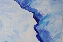 0027, Schneelandschaft, 65x50 cm, Acryl / Leinwand