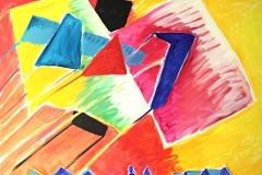 0029, Kitzbühel mit Drachen, 100x80 cm, Acryl / Leinwand