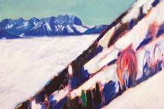0053, Kaiser steiler Hang, 70x50 cm, Acryl / Leinwand