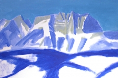 0055, Wilderkaiser, 1994, 50x65 cm, Acryl / Leinwand
