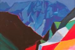0063, Wilder Kaiser Schlucht, 1994, 83x63 cm, Acryl / Leinwand