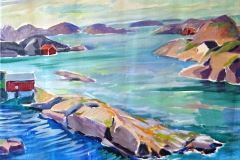 0885, Norwegen, 50x65 cm,  Acryl / Leinwand