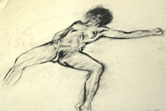12381, Figur, Kohle/Papier, 1987, 57,5x77 cm