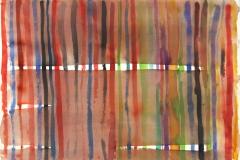 14096, Streifen, Aquarell/Papier, 1977, 57x78 cm