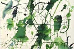 14176, Grün, Aquarell/Papier, 1977, 78x57 cm