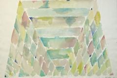 14177, Glashaus, Aquarell/Papier, 1980, 57x78 cm