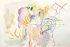 14349, Weihnachtsmann, Aquarell/Papier, 32x47 cm