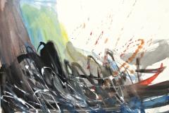 14972, Moderne Landschaft, Aquarell/Papier, 28x38 cm