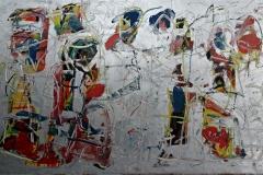 0497, Frohen Mutes, 1977, 100x59,5 cm, Acryl / Karton
