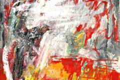 0503, Nordlicht, 1967, 50x70 cm, Öl / Hartfaserplatte