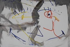 0578, Verfolgung, 1987, 80x60 cm, Acryl / Leinwand