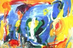 0585, Das Versteck, 1968, 122x91 cm, Öl / Hartfaserplatte
