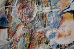 0595, Plastisch, 1989, 115x140 cm, Öl / Leinwand