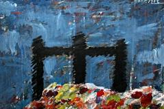 0606, Die 3 Ebenen, 1968, 171x130 cm, Acryl / Hartfaserplatte