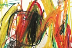 14396, Modern, Öl Kreide/Papier, 1969, 44x30 cm