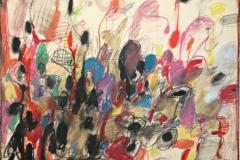 15064, Modern, Wachskreiden/Papier, 1969, 50x65 cm