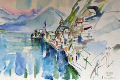 599, Hallstatt, Aquarell, 57 x 39 cm