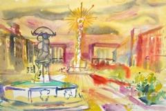 7617, Linz, 1985, Aquarell/Papier, 38,5x56 cm