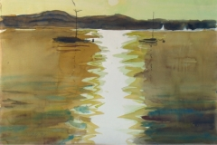 877, Am Attersee, 1992, Aquarell, 56 x38 cm