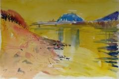 578, Salzburg, 1984, Aquarell, 57 x 38,5 cm