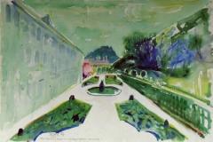 579, Mirabellgarten, 1984, Aquarell, 57 x 38,5 cm