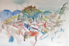 636, Salzburg, 1983, Aquarell, 65 x 47 cm