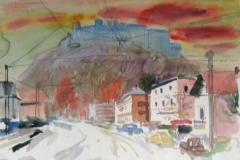 637, Salzburg, 1984, Aquarell, 57 x 38,5 cm