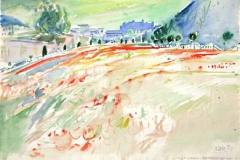7497, Mirabellgarten, 1984, Aquarell/Papier, 38,5x56,5 cm