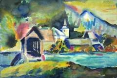 7542, Gusswerk, 1985, Aquarell/Papier, 38,5x56 cm