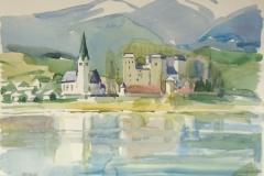 769, Salzkammergut, Aquarell, 48 x 36 cm