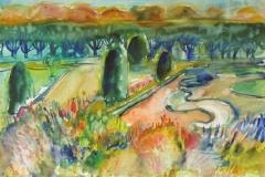 866, Mirabellgarten, 1986, Aquarell, 56,7 x 38,3 cm
