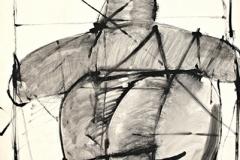 11712, Skifahrer, Aquarell/Papier, 48,5x61 cm