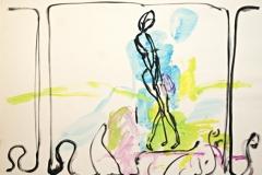 11725, Golf, Aquarell/Papier, 45x62 cm