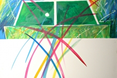 0094, Tischtennis, 100x120 cm, Acryl / Leinwand