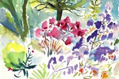 10029, Blumen und Gräser, 1983, Aquarell / Papier, 28,5x37,5 cm