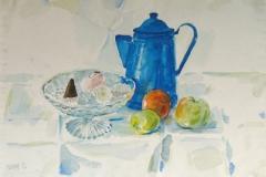 924, Kanne mit Obst, 1986, Aquarell, 56,5 x 39 cm