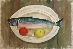956, Forelle, 1955, Aquarell, 56 x 37,5 cm