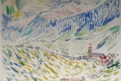 1025, Neusitft, Stubaital, 1979, Aquarell, 78 x 57 cm