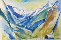 1643, Im Stubaital, 1979, Aquarell, 75,5 x 56,5 cm