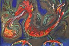 13011, Drachen, Aquarell/Papier, 1987, 50x65 cm