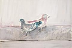 13032, Taube, Aquarell/Papier, 65x85 cm